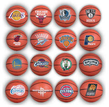 "2 NEW 2015 NBA BASKETBALL MINI 2"" BALL SOUVENIRS CAKE TOPPERS - YOU PICK TEAM"