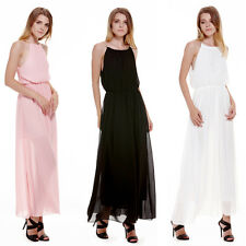 Sexy Women's Chiffon Pleated Long Maxi Boho Formal Evening Party Ball Prom Dress