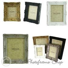 Sixtrees Chelsea Shabby Chic Vintage Ornate Photo frames 5 sizes & 4 colours