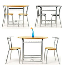 3PCS Butterfly Breakfast Kitchen Bistro Table and Chairs Seat Wooden Dining Set