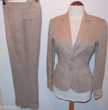 AUSTIN REED 100% Linen Tailored Suit Blazer Jacket Trousers 8 10 12 RP £319
