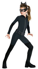 Girls Catwoman Costume Kids Black Cat Woman Girl Suit Stretch Jumpsuit Child NEW