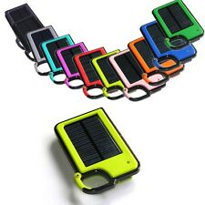 Portable Clip-on Solar Panel Power Bank USB External Battery Charger For Phone
