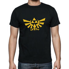 The Legend of Zelda Men's T Shirt video game triforce logo  tee Nintendo Golden
