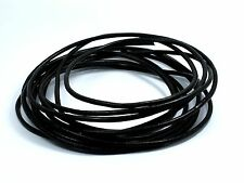 Black or Brown Genuine 3mm Round LEATHER CORD for Making Bracelet Necklace