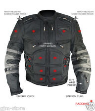 New Xelement Mens CF5050 Cordura level-3 Armored Motorcycle Jacket Removable arm