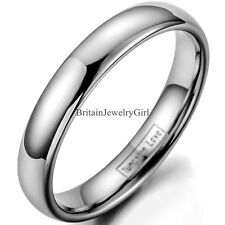 4MM Tungsten Carbide Plain Dome Engagement Wedding Band Anniversary Ring