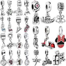 2017 Hot Bead Silver Charms Fit Brand European Women Diy 925 Bracelets Necklace