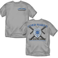 Coed Naked Law Enforcement  - Gray- T-shirt - Adult Sizes