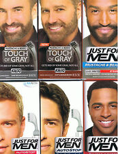 NEW JUST FOR MEN HAIR COLOR SHAMPOO IN COLOR MUSTACHE BEARD AND AUTOSTOP