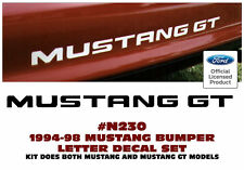 GE-N230 1994-98 FORD MUSTANG - GT or LX - REAR BUMPER LETTER DECAL - LICENSED