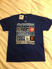 NWT LA Dodgers vs SF Giants 2014 Opening Series/Opening Day Shirt