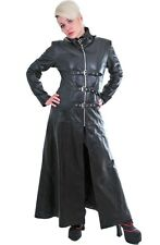 WOMEN LEATHER GOTHIC COAT GENUINE LAMBSKIN LEATHER STEAMPUNK VAN HELSING COAT 1