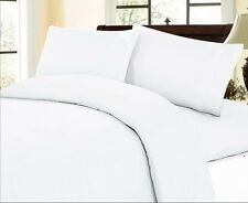 1000 TC 100% EGYPTIAN COTTON  ALL ITEMS & SIZE AVAILABLE WHITE SOLID