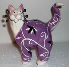 Collectible Whimsiclay  Cat Figruine #24805 Signed Amy Lacombe - 2003