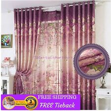 Kids Room Purple Sheer Curtains Drapes Custom Made Bed Room Eyelet Pleats Modern