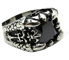 Ring Medieval Gothic Biker Lily Fleur de Lis Lys Iris Stainless steel new
