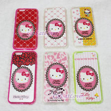 Matte cute Hello Kitty cat Emblem 3D rasied soft rubber iPhone 6/6s case cover