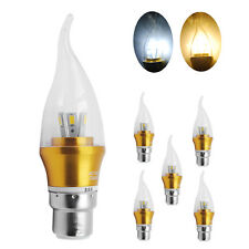 6/12X 6W B22 SMD LED Candle Bulbs Light Chandelier Flame Lamp Day/Warm White AU