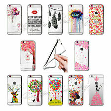 Ultra Thin Fashion Pattern Clear Soft Phone Case For Apple iPhone 5/5s/6 Samsung