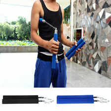 Martial Arts Nunchucks Weapon Foam Sponge Karate Ninja Nunchucks Metal Chain HS