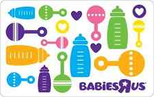 """Babies""""R""""Us Gift Card $25 $50 $100 - mail delivery"""