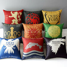 Game of Thrones House Sigils Home Decorative Flat Pillow case Cushion Cover