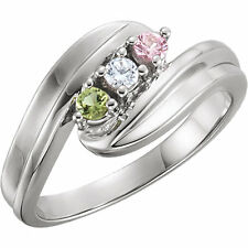 Mother's Jewelry Sterling Silver 1-7 Round Birthstones Mothers Ring, Moms gift