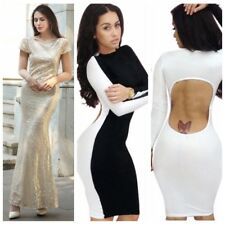 Sexy Womens Backless Bandage Club Slim Bodycon Party Evening Cocktail Mini Dress