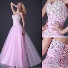 US STOCK Long Ball Gown Quinceanera Formal Evening Party Bridesmaid Prom Dresses