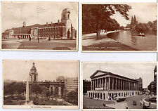 BIRMINGHAM POSTCARD ASSORTMENT OLD SQUARE TOWN HALL BOURNEVILLE POSTCARDS