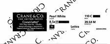 Crane's Lettra Pearl White 110# cover/50 sheets of 100% cotton card stock