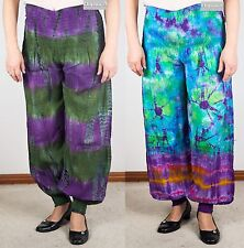 New Tie Dye Harem Cotton Multi-Coloured Pants (Gypsy Hippy/Boho)