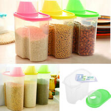 1.9L Dry Food Containers Cereals Nuts Rice Beans Dispenser Storage Boxes W / Lid