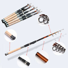 Carbon Telescopic Spinning Rod Pole Saltwater Casting Sea Fishing Rod Portable