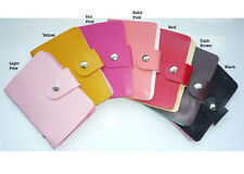 24 Cards Pocket PU Leather Credit ID Business Card Holder Case Wallet Purse