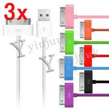 3x 2M USB Sync Data Cable Wire Charging Lead For iPhone 4 4S 3GS iPod Touch Nano