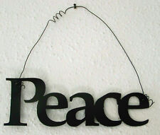 """PEACE """"Words to Live By"""" Wall Art Hanging Metal Sign"""