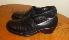 DANSKO BLACK LEATHER CLOGS BUSINESS PROFESSIONAL WORK SHOES WOMENS 38/8