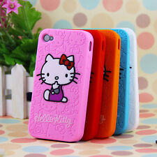 HOT Cartoon Cute Hello Kitty Silicone Soft Drop Case Cover for iPhone 4/4s