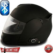 VCAN V210B BLINC BLUETOOTH MATTE FLAT BLACK MODULAR MOTORCYCLE HELMET DOT XS-XL