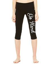 GO HARD Bella Canvas Capri Fit Yoga Leggings Ladies Pants 1233