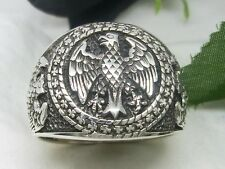 Federal eagle ring Silver Honorary ring Seal ring german eagle ring