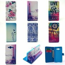 Hot Pattern Magnetic Lock Flip Leather Wallet Slots Stand Case Cover For Samsung