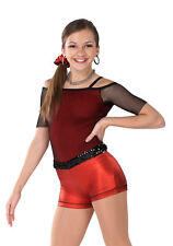 """Awish Come True """"Jump"""" Hip Hop/Jazz Costume Style V1030 (Red)"""