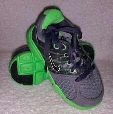 New! Baby Unisex Nike LUNARGLIDE 2 Running shoes Cool Grey/Black/Neon Green B41