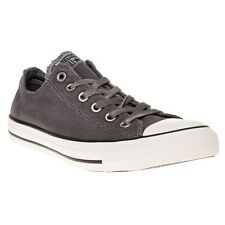 New Mens Converse Grey All Star Ox Textile Trainers Canvas Lace Up