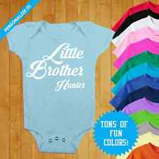 PERSONALIZED BABY BODYSUIT LITTLE BROTHER CUSTOM BABY CLOTHES BABY SHOWER #BABY