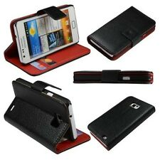 MOBILE PHONE CASE SAMSUNG GALAXY S2 i9100 i9105 WALLET FLIP COVER BLACK SLEEVE