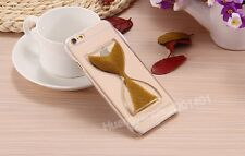Cute Quicksand Hourglass Crystal Clear Thin Transparent Case Cover For iPhone